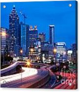 Downtown Atlanta At Dusk Acrylic Print