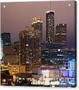 Downtown Atlanta Skyline At Dusk Acrylic Print