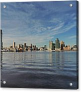 Downtown Baltimore And Harbor East Skylines Acrylic Print