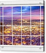 Downtown Boulder Colorado City Lights Sunrise  Window View 8lg Acrylic Print
