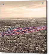Boulder Colorado  Twenty-five Square Miles Surrounded By Reality Acrylic Print