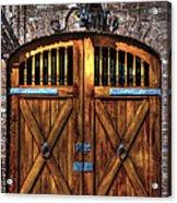 Downtown Charleston Sc Doors Acrylic Print