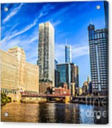 Downtown Chicago At Franklin Street Bridge Picture Acrylic Print by Paul Velgos
