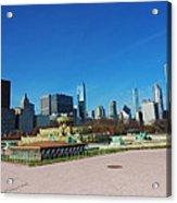 Downtown Chicago With Buckingham Fountain 2 Acrylic Print