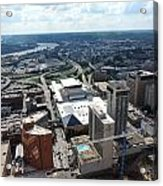Downtown Cincinnati Form The Top Of Karew Tower Acrylic Print