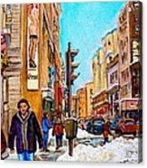Downtown City Life Acrylic Print