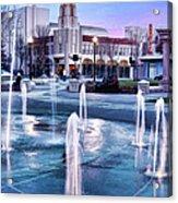 Downtown City Plaza Chico California Acrylic Print