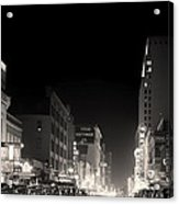 Downtown Dallas 1942 Acrylic Print