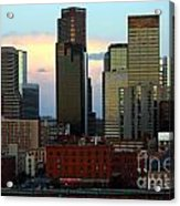 Downtown Denver At Dusk Acrylic Print