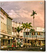Downtown Hilo Sunday Morning Acrylic Print