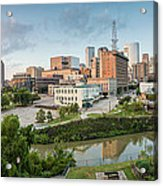 Downtown Houston From Uh-d. September Acrylic Print by Silvio Ligutti
