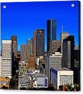 Downtown Houston Painted Acrylic Print