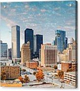 Downtown Houston Panorama Acrylic Print