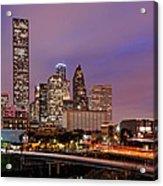 Downtown Houston Texas Skyline Beating Heart Of A Bustling City Acrylic Print