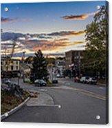 Downtown Ipswich Sunset Acrylic Print