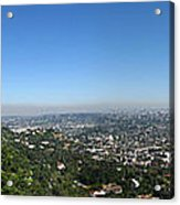 Downtown La From Griffith Observatory Acrylic Print