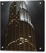 Downtown Los Angeles In The Fog Acrylic Print