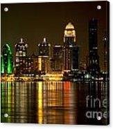 Downtown Louisville Kentucky Skyline Night Shot Acrylic Print