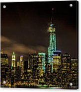 Downtown Manhattan At Night Acrylic Print