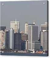 Downtown Manhattan Shot From The Staten Island Ferry Acrylic Print