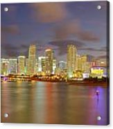 Downtown Miami And Aaa Acrylic Print