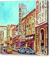 Downtown Montreal Acrylic Print