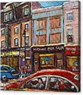 Downtown Montreal Streetscene Acrylic Print