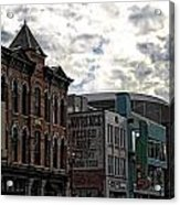 Downtown Nashville Acrylic Print by Dan Sproul