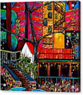 Downtown On The River Acrylic Print by Patti Schermerhorn