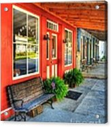 Downtown Perryville Acrylic Print by Mel Steinhauer