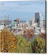Downtown Pittsburgh From Mount Washington 4 Acrylic Print