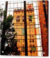 Downtown Reflection Acrylic Print