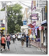 Downtown Scene In Provincetown On Cape Cod In Massachusetts Acrylic Print