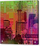 Downtown Seattle Cubed 1 Acrylic Print