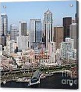 Downtown Seattle Washington City Skyline Acrylic Print