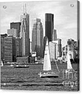 Downtown Skyline Of Toronto On Acrylic Print