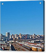 Downtown Tacoma View From The Rail Lines Acrylic Print