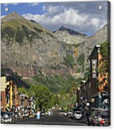 Downtown Telluride Colorado Acrylic Print by Mike McGlothlen