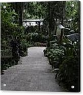 Downward Sloping Part Inside The National Orchid Garden In Singapore Acrylic Print