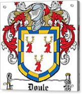 Doyle Coat Of Arms Wicklow Ireland Acrylic Print