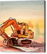 Dozer In Watercolor  Acrylic Print