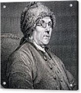 Dr Benjamin Franklin Acrylic Print