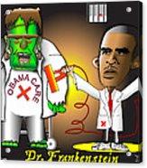 Dr. Frankenstein Shocks Monster Acrylic Print