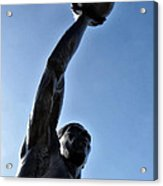 Dr. J. Acrylic Print by Bill Cannon