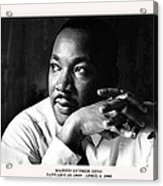 Dr. Martin Luther King Jr. Acrylic Print