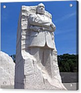 Dr Martin Luther King Memorial Acrylic Print