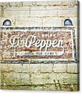Dr Pepper-good For Life Acrylic Print
