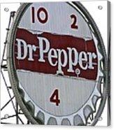 Dr. Pepper Illuminated Landmark Sign Acrylic Print