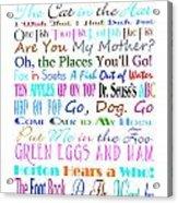Dr Seuss Books 3 Acrylic Print