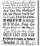 Dr Seuss Books 4 Acrylic Print